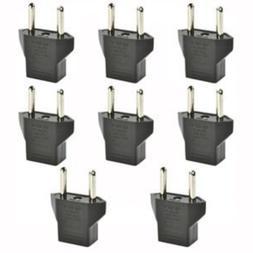 Haiker 8 PCS American USA to European Outlet Plug Adapter
