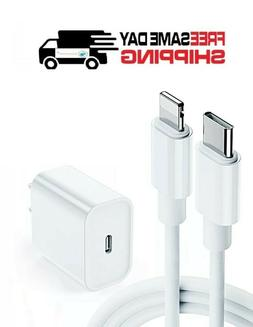 For Apple 18W Fast Charger USB-C Power Adapter Cable iPhone