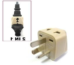 CVID BA-16AN Grounded Universal 2-in-1 Plug Adapter - Type I