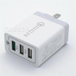 Brand NEW 3-Port QC3.0 AC Charger Power Adapter for Samsung