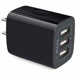 Cables Wall Charger Plug, USB Cube, Ailkin 3.1A 3-Muti Port