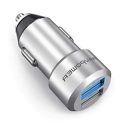 Car Charger R.A.V Mini Dual USB Adapter Two Ports ISmart2 Po