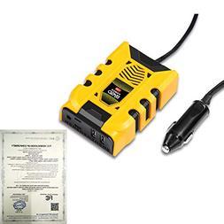BYGD Car Converter Power Inverter Outlet Adapter 120W 12V DC