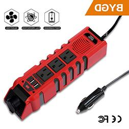 BYGD Car Power Inverter Outlet Adapter 150W 12V DC to 110V A