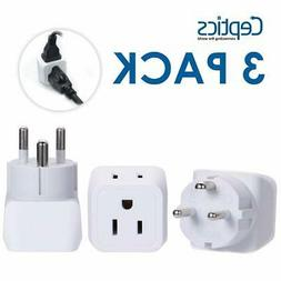 Denmark Travel Adapter Plug by Ceptics with Dual Usa Input -