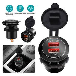 Dual USB Car Cigarette Lighter Socket Splitter 12V Charger P