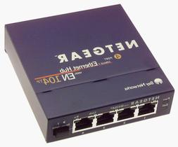 Netgear EN104TP 4-Port 10 Mbps Ethernet Hub RJ-45 with Uplin