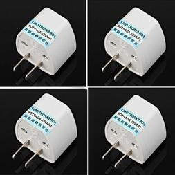 EU Europe Euro UK to USA US AC Travel Charger Power Adapter