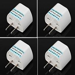 EU Europe Euro UK to USA US AC Travel Charger Power Adapter