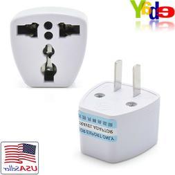 EU/UK/AU to US USA AC Power Wall Converter Plug 2-Pin Travel