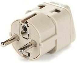 European Power Adapter Plug by Orei, Perfect for Travel To E