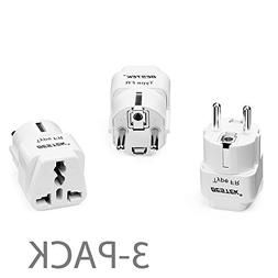 BESTEK USA to Europe Plug Adapter, Grounded Universal Travel