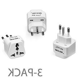 BESTEK Grounded Universal Plug Adapter Travel Plug Adapter,
