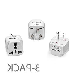 BESTEK Grounded Universal Plug Adapter USA to Australia, Chi