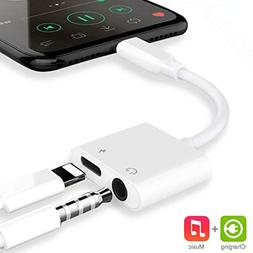 Headphone Adapter for iPhone Dongle Aux Headset Adaptor Cabl