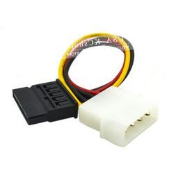 New 4 PIN IDE Molex To Serial 15 Pin SATA Power Adapter cabl