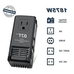 GJT 1875W International Power Converter and Adapter Combo St