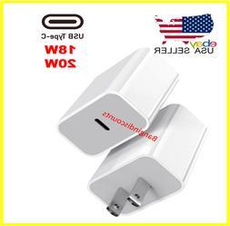 For iPhone 12 Pro Max/Mini/18W 20W USB Type C Fast Wall Char