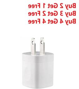 For iPhone 5 6 7 8 X 11 White 1A USB Power Adapter AC Home W