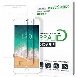 iPhone 8, 7, 6S, 6 Screen Protector Glass, amFilm Tempered G