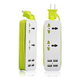 K-Century Travel Power Strip Surge Protector with 2 Outlets