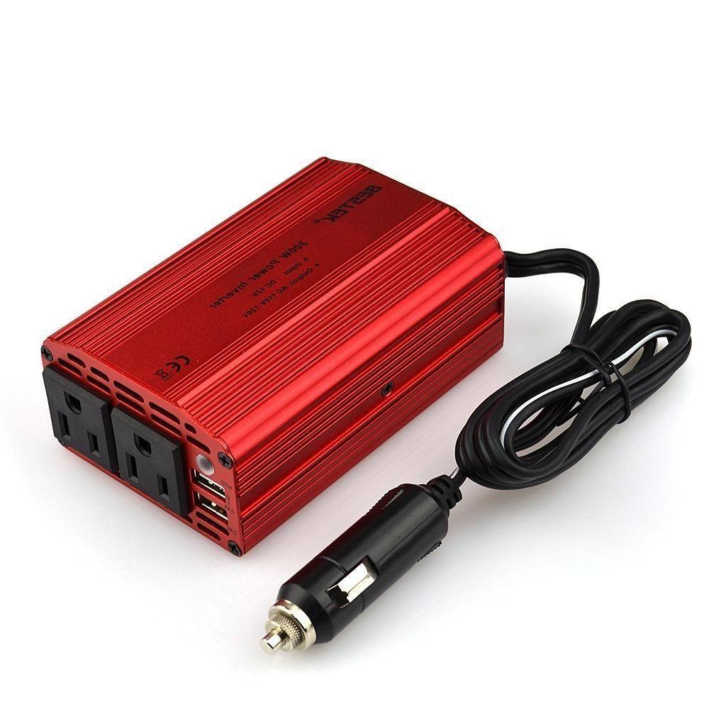BESTEK 12V DC to 110V AC Car 300W Power Inverter USB Outlets