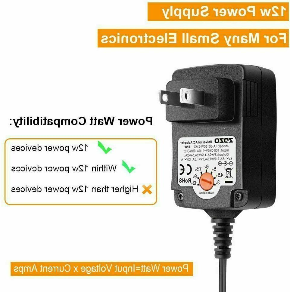 12W AC Charger Power Supply for DC Wall 5V 6V