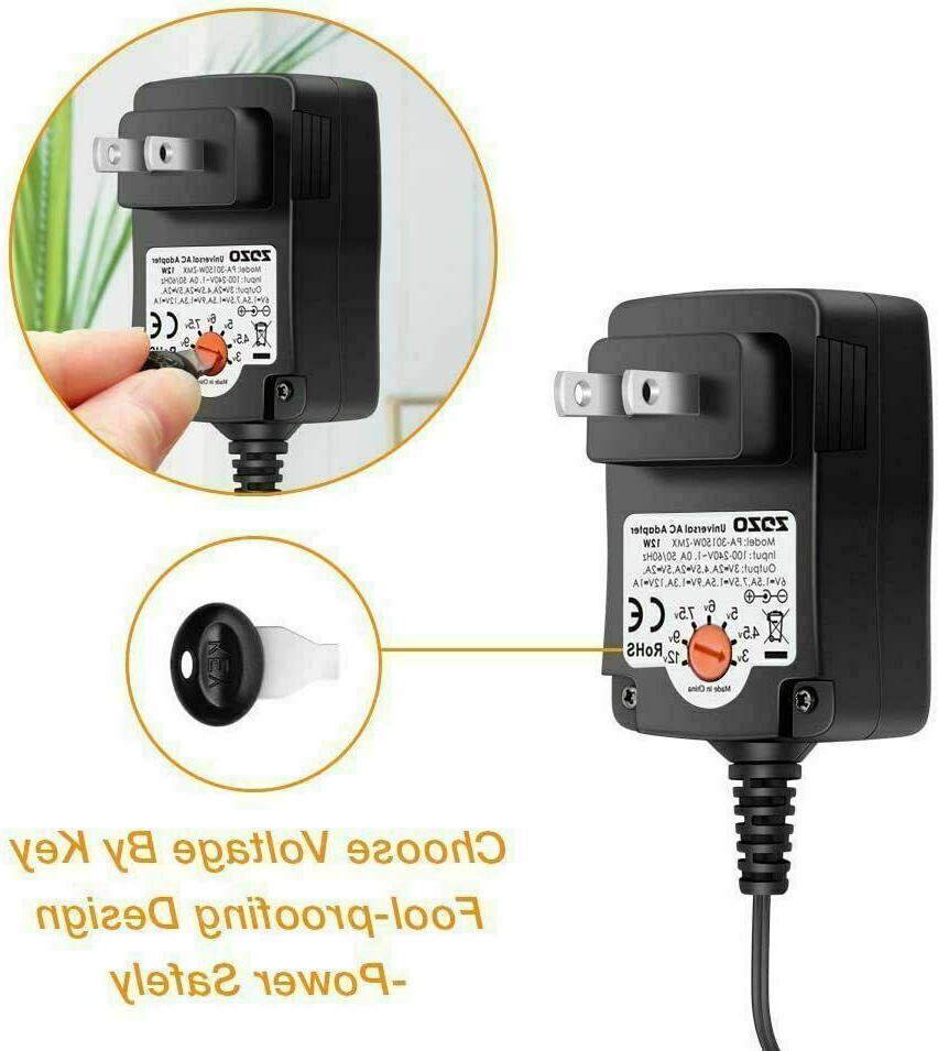 12W Power Wall Charger 3-4.5V 6V 7.5V