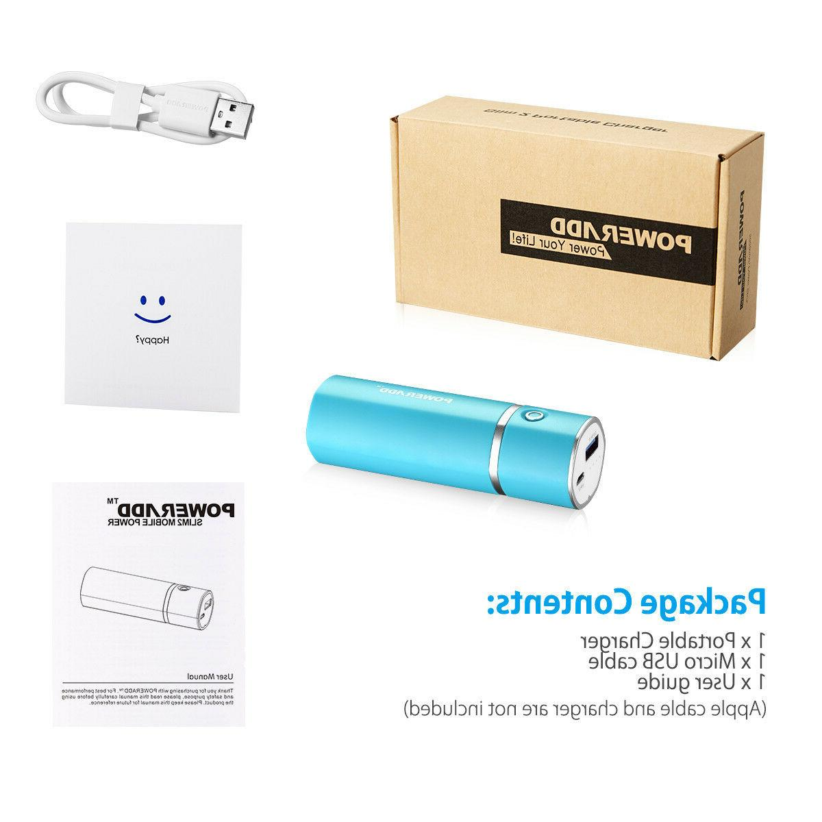 2 Pack 5000mAh Power Battery Charger Adapter Cell