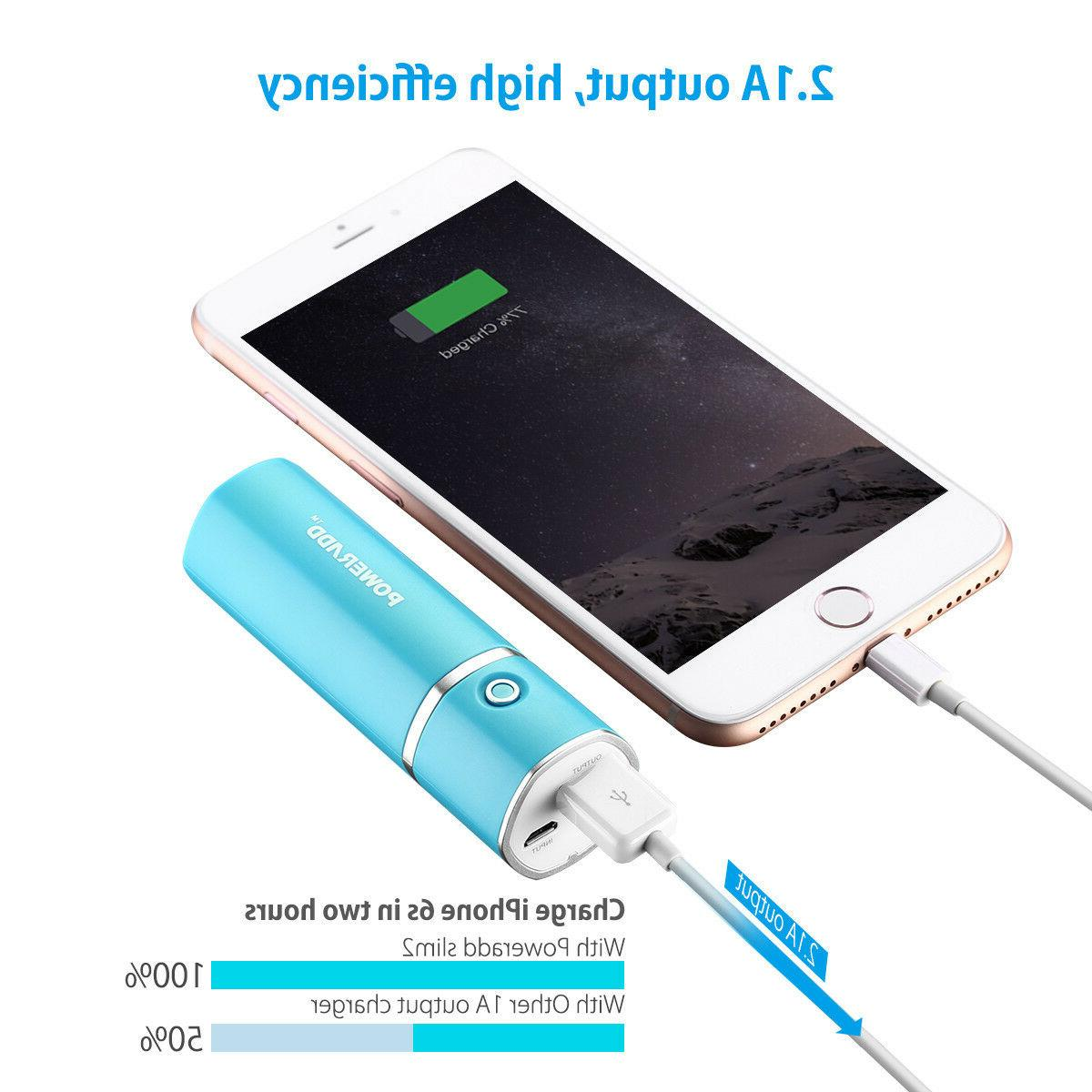 2 5000mAh Power Bank Battery Charger Adapter Cell Phone