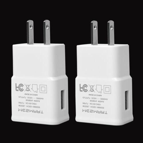 2 Pack Fast USB Wall Charger Power Adapter Charging for iPho