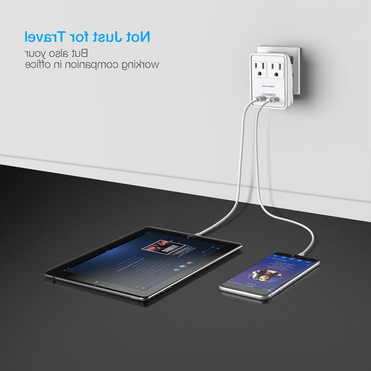 2 Pack Poweradd UK/AU/EU/JP/US Strip Convertor