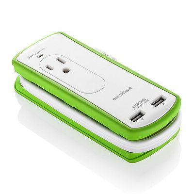 Poweradd 2 Outlet Power Strip Charger 2 Port