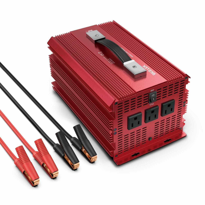 2000W/4600 Watt Power Inverter, BESTEK 12V DC to 110V AC Ada