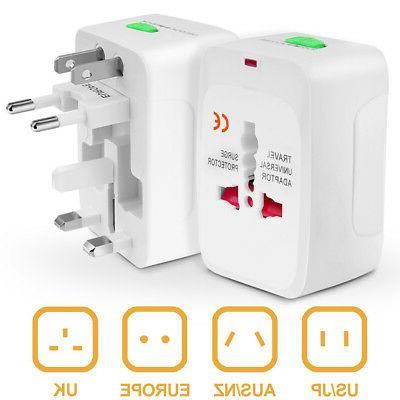 Electrical US/EU Universal Multi Purpose Travel Adapter Conv
