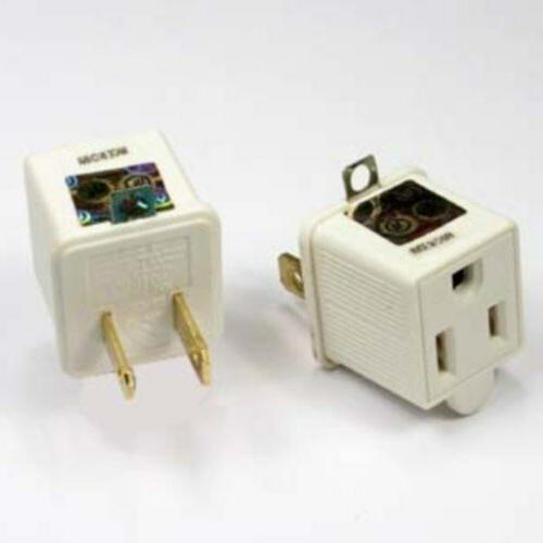 2to3prong 110VAC/V AC outlet/socket ground/grounding power c