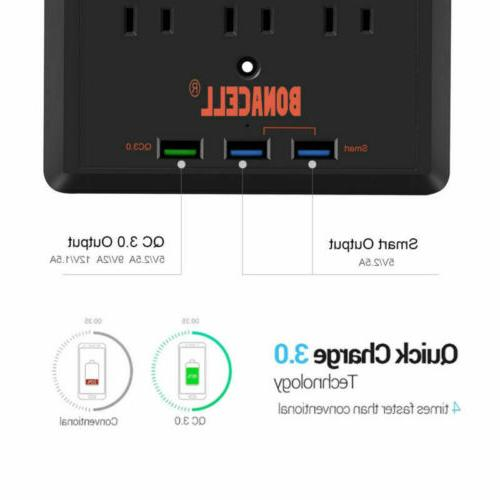 3 Port Power Adapter Surge Protector