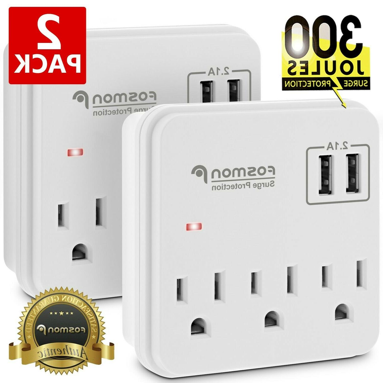 3 outlet surge protector power strip