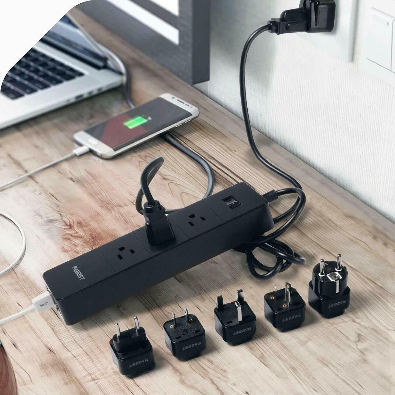 TESSAN 3 Surge Protector Power Strip 4 USB Ports