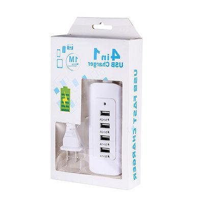4 Multi-Port Charger Fast Charging Station Hub Power
