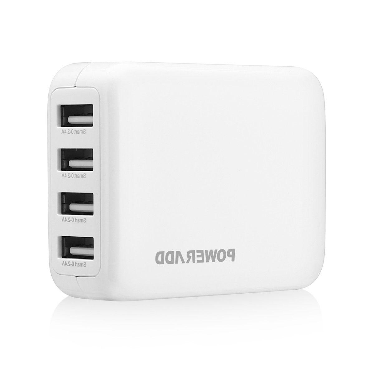 4 USB Port Hub 2.4A Portable Home Adapter phone