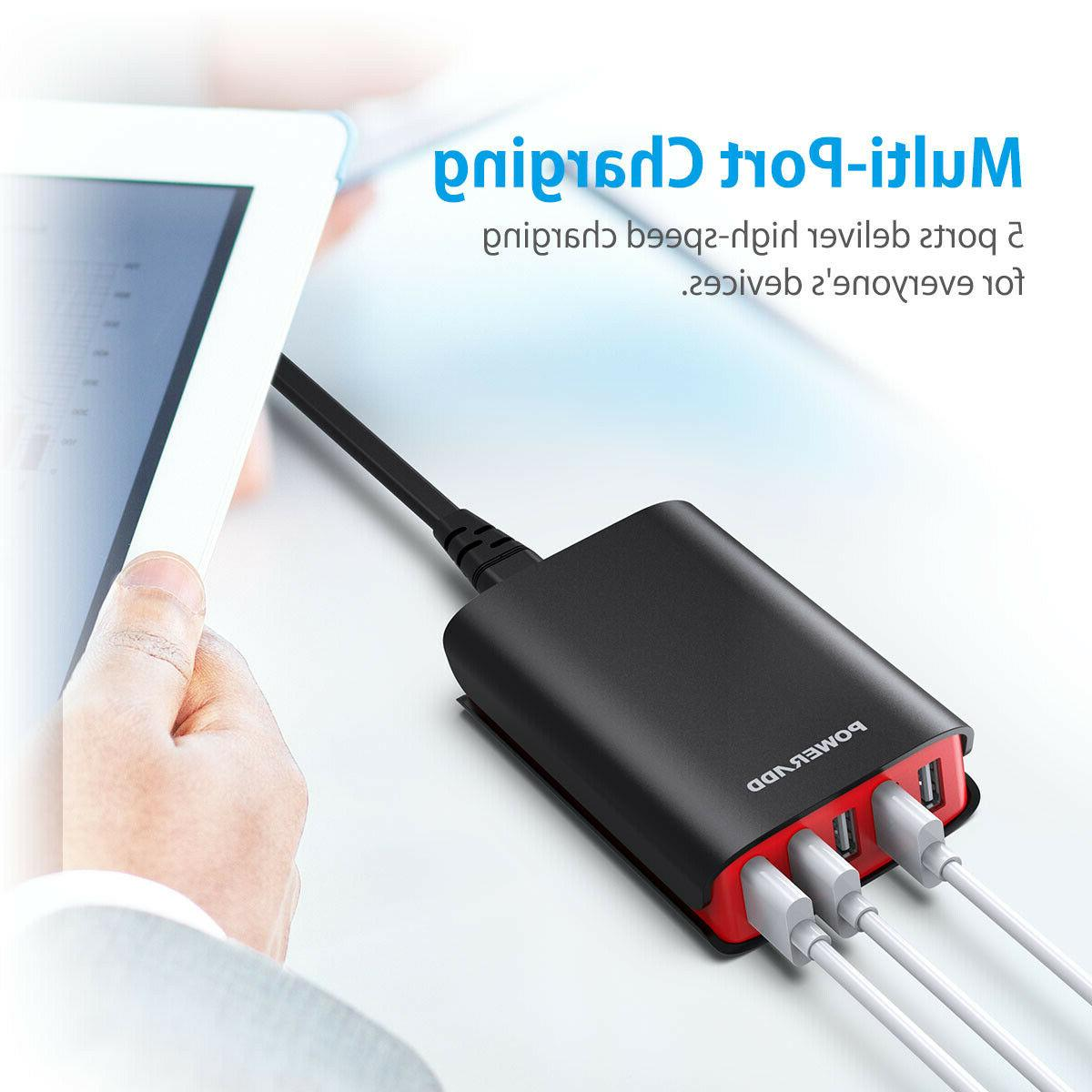 40W 8A USB Smart AC Station Power Adapter