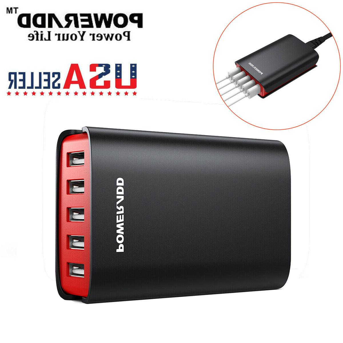 40w 8a 5 ports usb charger hub
