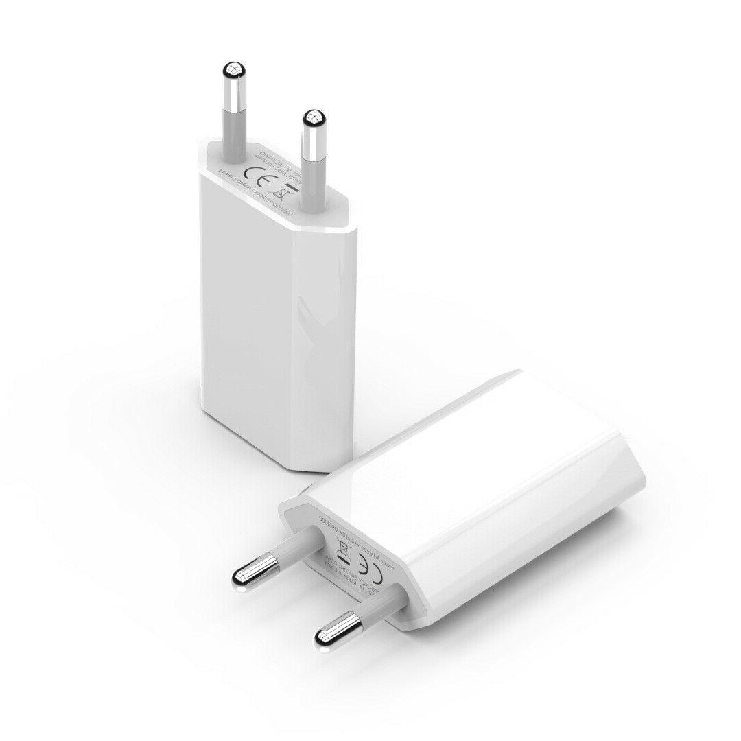 100 LOT  EU Wall Charger USB Power Adapter For Apple iPhone