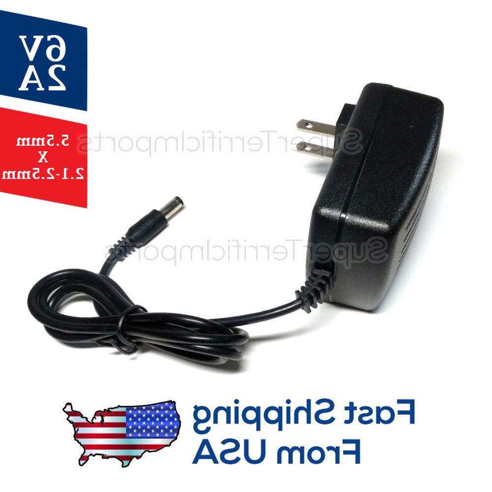 6V 2A Supply Adapter, AC Transformer 5.5mm 1A