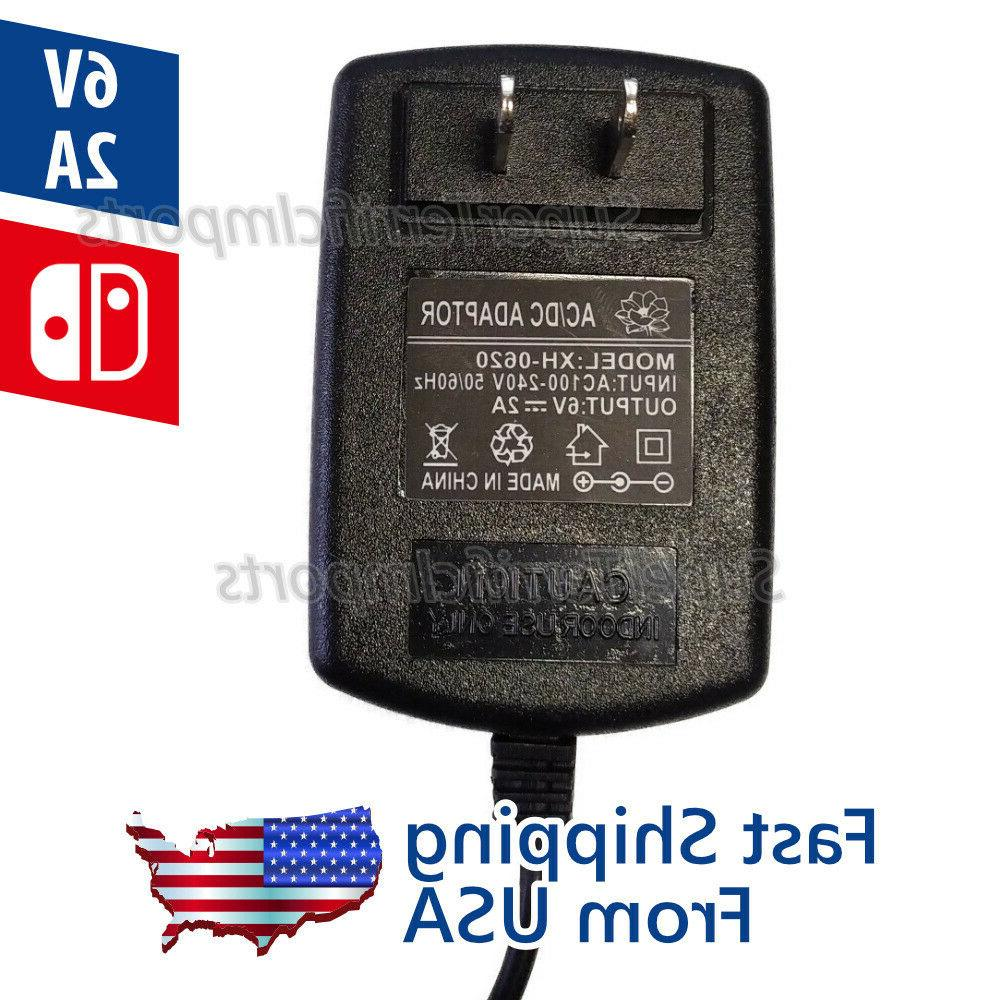 6V 2A Adapter, Charger, DC Transformer 5.5mm x 2.1-2.5mm 1A