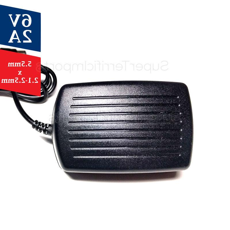 6V Power Adapter, Charger, AC Transformer 5.5mm 1A