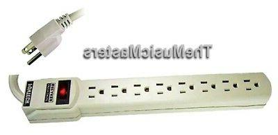 8 Outlet POWER STRIP On/Off Switch AC Electric Wall Plug Pow