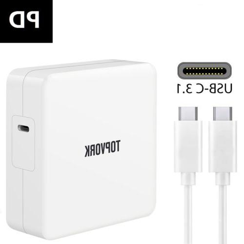 87W USB-C Power Adapter Charger For Apple Macbook Pro 15 Inc