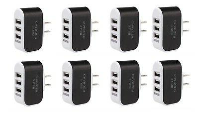 8pcs ac wall outlet to usb socket